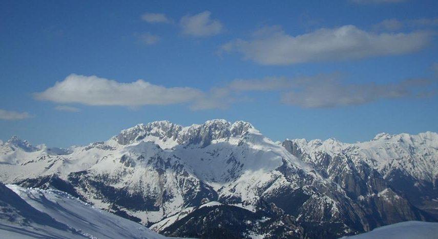 Massiccio della Presolana, visto dal Monte Pora ( Alta Valle Seriana )