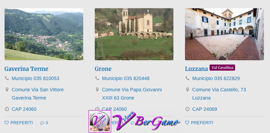 Comuni Val Cavallina
